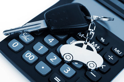 Calculator with car key